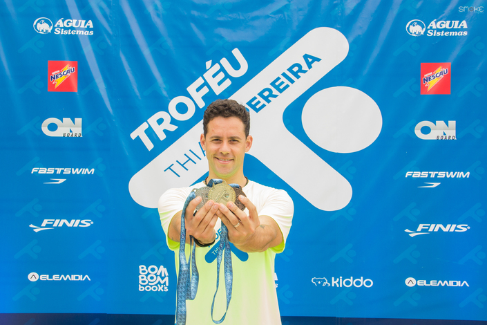 Worthy of medal: with Águia support, Thiago Pereira Trophy encourages inclusion by swimming